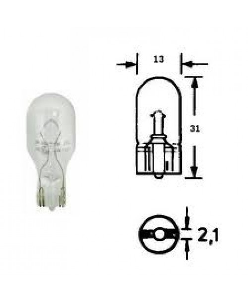 Лампа 12Vx21W бел