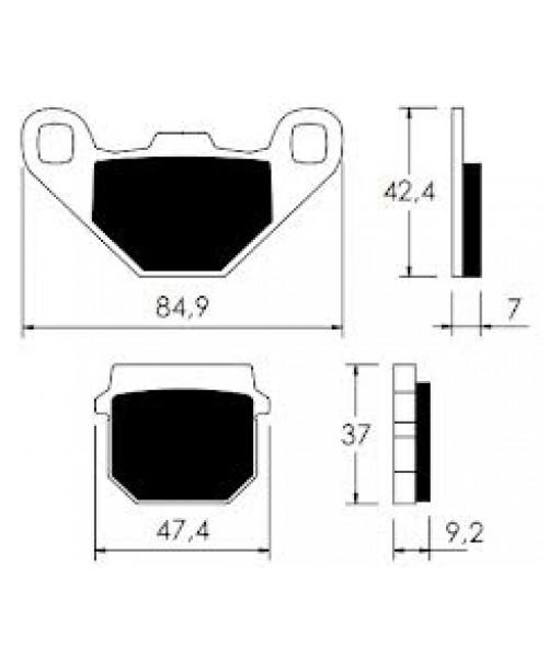 Тормозные колодки V-Brakes органика ADRESS, LIDO/ ATV KAYO 110 REAR 22 510 0040