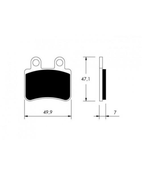 Тормозные колодки V-Brakes органика 22 510 2810