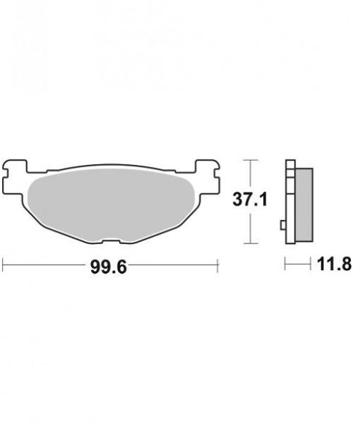 Тормозные колодки V-Brakes органика