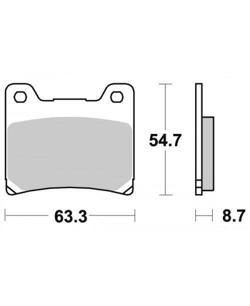 Тормозные колодки V-Brakes ораника Yamaha FJ/XJ/FJR