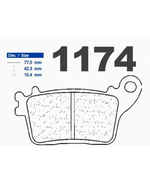 Тормозные колодки CL синтетические 1174