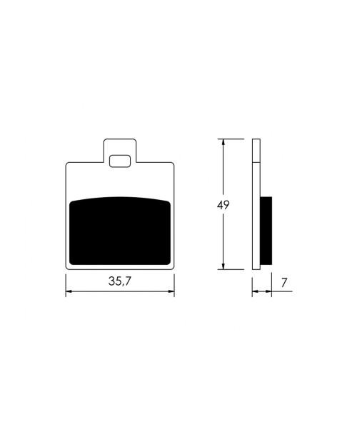 Тормозные колодки V-Brakes органика ET2, ET4, RUNNER, SFERA 125, FDB2057EF 22 510 0300