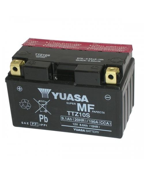 Аккумулятор TTZ10S YUASA TTZ10S 8,6Ah, 190CCA, 3,2 KG ОБЩИЙ ВЕС,  150x87x93 +/-