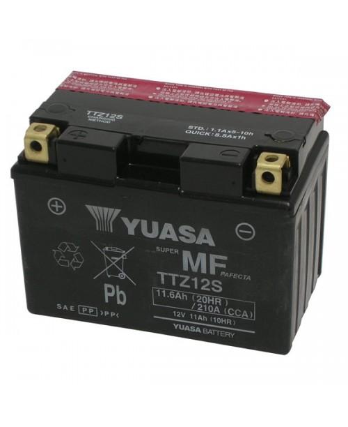 Аккумулятор TTZ12S YUASA TTZ12S 11Ah, 210CCA, 3,7 KG ОБЩИЙ ВЕС,  150x87x110 +/-