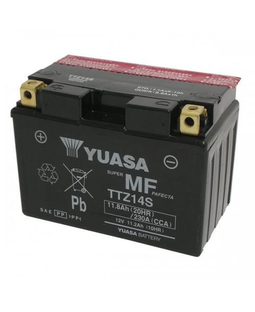 Аккумулятор TTZ14S YUASA TTZ14S 11,2Ah, 230CCA, 3,9 KG ОБЩИЙ ВЕС,  150x87x110 +/-