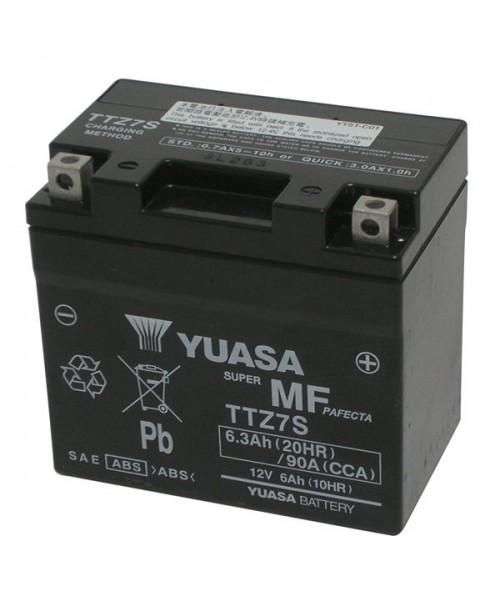 Аккумулятор TTZ7S YUASA TTZ7S 6Ah, 130CCA, 2,1 KG ОБЩИЙ ВЕС, 113x70x105 -/+
