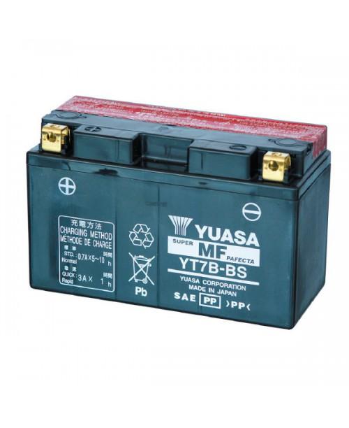 Аккумулятор YT7B-BS YUASA YT7B-BS 6,5Ah, 110CCA, 0,33 LITR ACID, 2,7 KG ОБЩИЙ ВЕС,  150x65x93 +/-