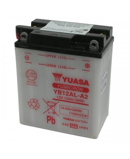 Аккумулятор YB12AL-A2 YUASA YB12AL-A2 12Ah, 150CCA, 0,75 LITR ACID, 4,0 KG ОБЩИЙ ВЕС,  134x80x160 -/+
