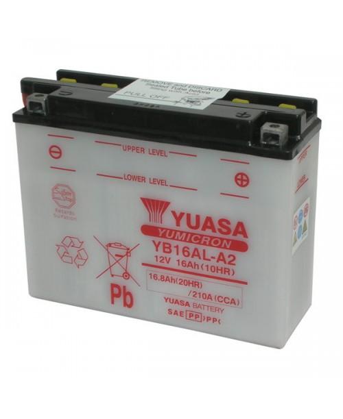 Аккумулятор YB16AL-A2 YUASA YB16AL-A2 16Ah, 210CCA, 1,1 LITR ACID, 5,3 KG ОБЩИЙ ВЕС,  207x72x164 -/+