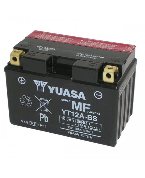 Аккумулятор YT12A-BS YUASA YT12A-BS 10Ah, 175CCA, 0,5 LITR ACID, 3,5 KG ОБЩИЙ ВЕС,  150x87x105 +/-
