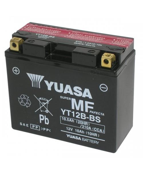 Аккумулятор YT12B-BS YUASA YT12B-BS 10Ah, 210CCA, 0,5 LITR ACID, 4,1 KG ОБЩИЙ ВЕС,  150x69x130 +/-