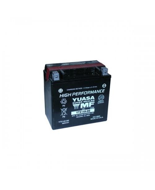 Аккумулятор YTX14H-BS YUASA YTX14H-BS 12Ah, 240CCA, 0,69LITR ACID, 4,8 KG ОБЩИЙ ВЕС, 150x87x145 +/-