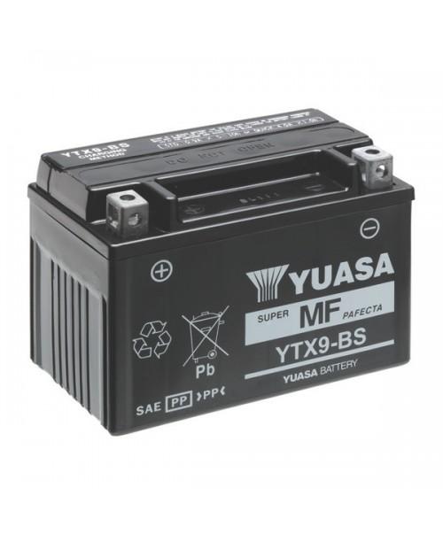 Аккумулятор YTX9-BS YUASA 8Ah, 135CCA, 0,4 LITR ACID, 3 KG ОБЩИЙ ВЕС, 150/87/105  +/-