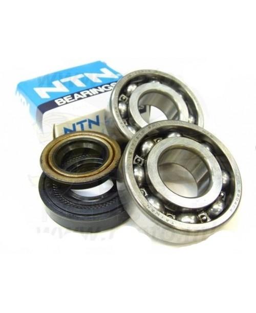 Комплект подшипник и сальник(и) Коленвал Yamaha Minarelli 50cc 2T NTN метал сепаратор