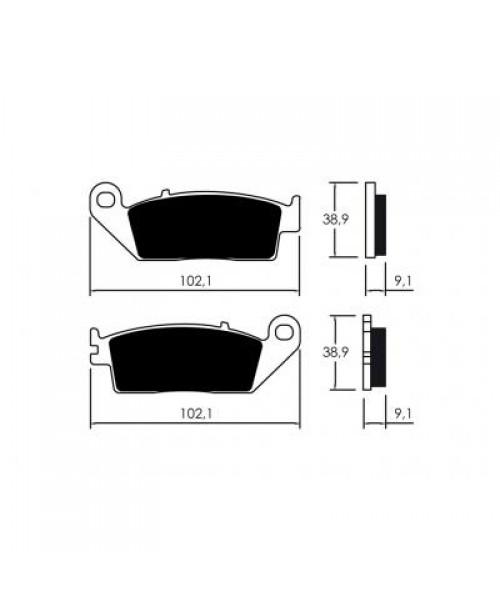 Тормозные колодки V-Brakes ораника Yamaha Majesty 125 задн