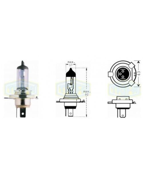 Лампа H4 12V 60/55W  socket P43t
