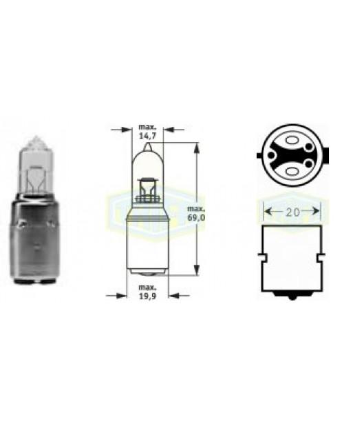 Лампа M5 12V 35/35W sosket BA20d