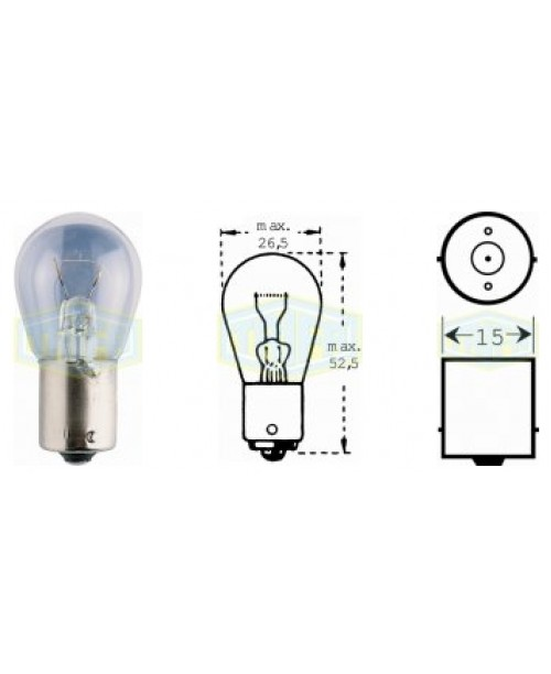 Лампа поворота 12V 21W socket BA15s