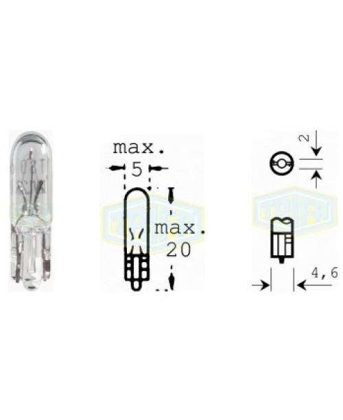 Лампа 12V W1,2W W2x4,6d