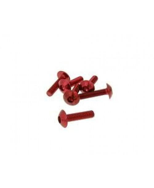 Болты для пластика M5x30 красн
