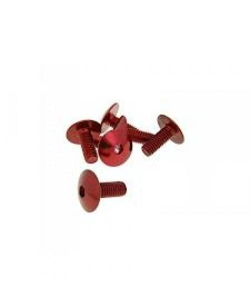 Болты для пластика M6x15 красн
