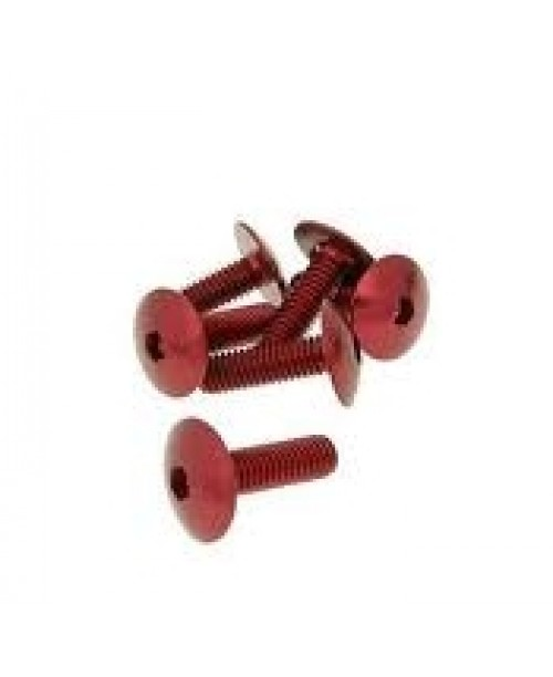 Болты для пластика M6x20 красн