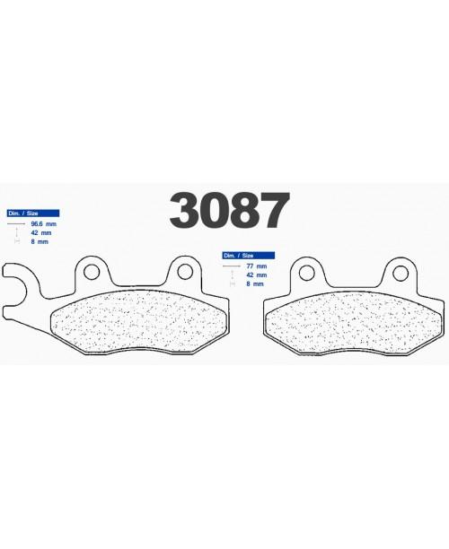 Тормозные колодки CL синтетические 3087MSC