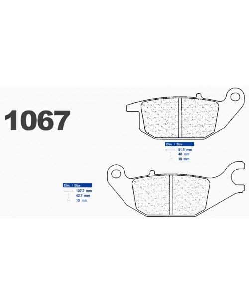 Тормозные колодки CL синтетические 1067RX3