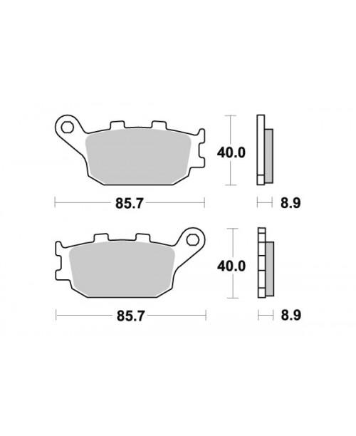 Тормозные колодки SBS 657LS синт  аналог 2074RR / P10753 /  FDB754ST