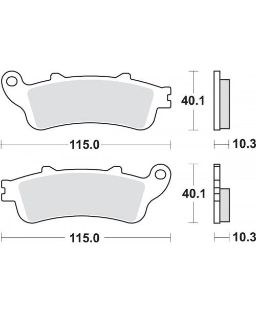 Тормозные колодки SBS 880LS синт HONDA GL1800
