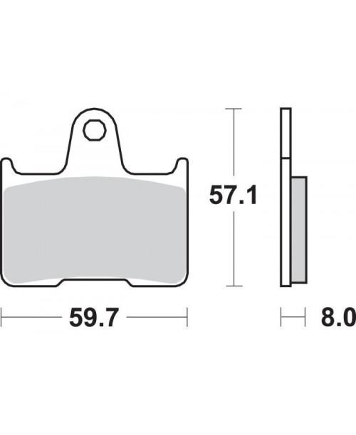 Тормозные колодки SBS 715LS синт