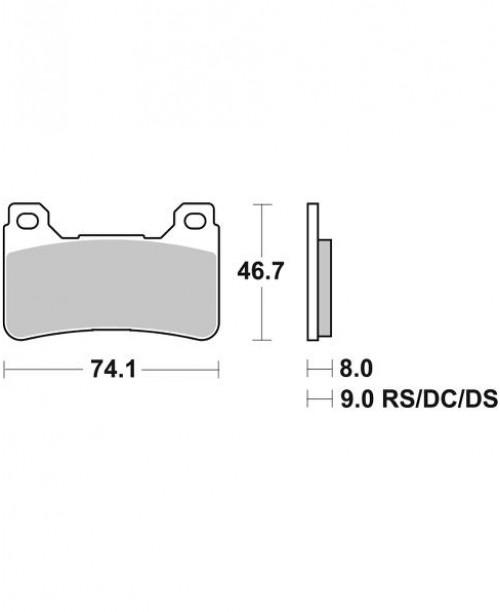 Тормозные колодки SBS 809HS синт 2020 FR