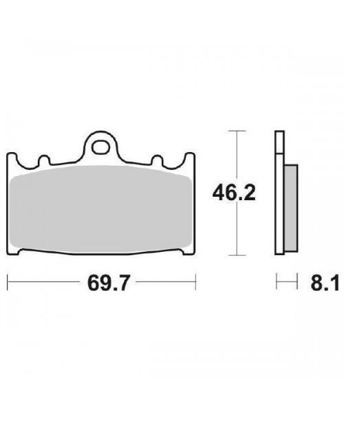 Тормозные колодки SBS 631HS синт