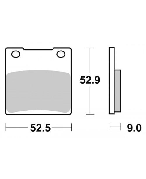 Тормозные колодки SBS 556LS синт