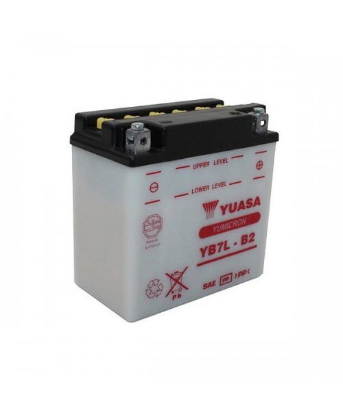 Аккумулятор YB7L-B2 YUASA YB7L-B2 8Ah, 75CCA, 0,6 LITR ACID, 2,9 KG ОБЩИЙ ВЕС, 137x76x135 -/+