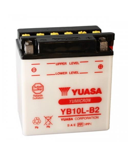 Аккумулятор YB10L-B2 YUASA YB10L-B2 11Ah, 120CCA, 0,8 LITR ACID, 4,0 KG ОБЩИЙ ВЕС, 136x91x146 -/+