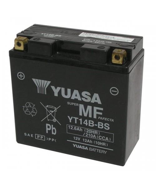Аккумулятор YT14B-BS YUASA YT14B-BS 12Ah, 210CCA, 4,6 KG ОБЩИЙ ВЕС, 152x70x145 +/-