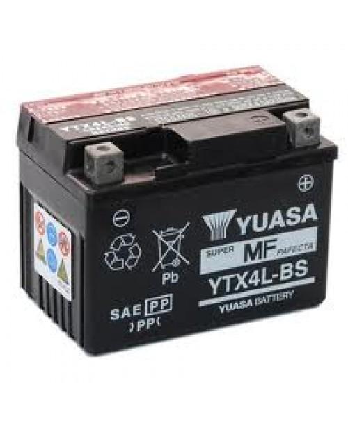Аккумулятор YTX4L-BS YUASA YTX4L-BS 3Ah, 50CCA, 0,18 LITR ACID, 1,4 KG ОБЩИЙ ВЕС,  114x71x86 -/+