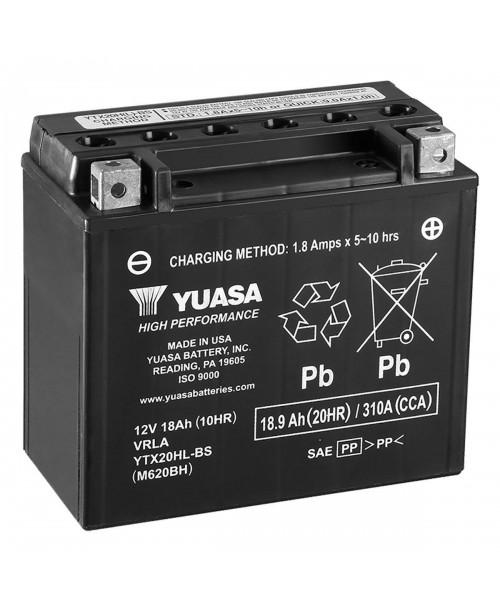 Аккумулятор YTX20HL-BS YUASA 18Ah, 310CCA, 0,93LITR ACID, 6,3 KG ОБЩИЙ ВЕС, 175x87x155 -/+