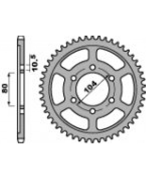 Звезда Приводная задняя KAW. 750 ZXR-R Z42 C45 C.525