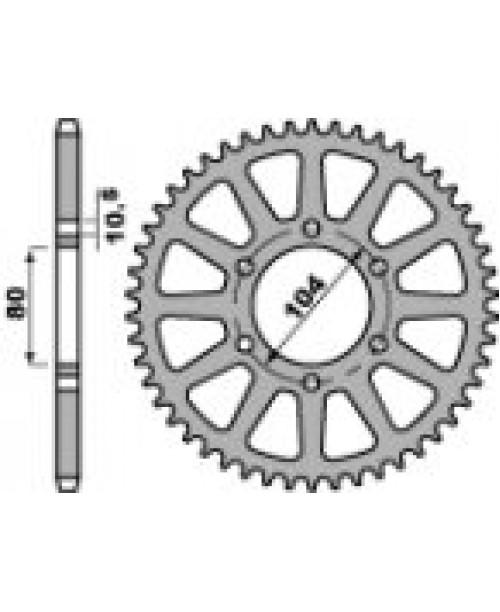 Звезда Приводная задняя KAWASAKI Z43 C45 C.520 JTR478.43