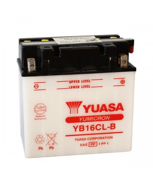 Аккумулятор YB16CL-B YUASA YB16CL-B 19Ah, 240CCA, 1,2 LITR ACID, 6,1 KG ОБЩИЙ ВЕС, 175x100x155 -/+