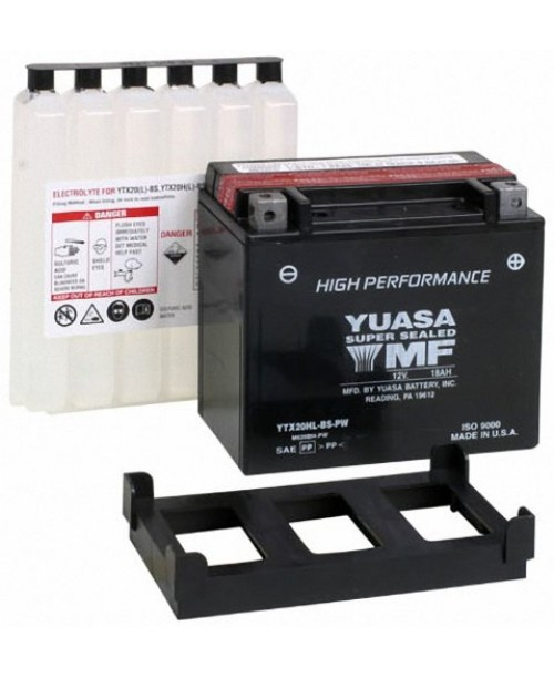 Аккумулятор YTX20-HL-BS-PW  YUASA YTX20-HL-BS-PW 18Ah, 310CCA, 0,93LITR ACID, 6,3 KG ОБЩИЙ ВЕС, 175x87x175 -/+