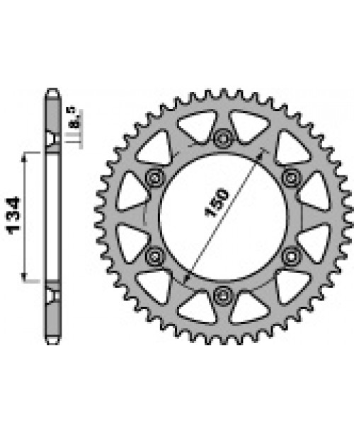 Звезда Приводная задняя  KAWASAKI Z51 C45 C.520