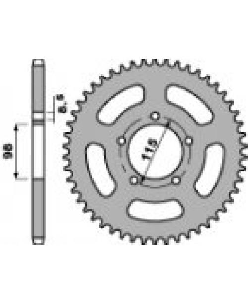 Звезда Приводная задняя  KTM Z50 C45 C.420