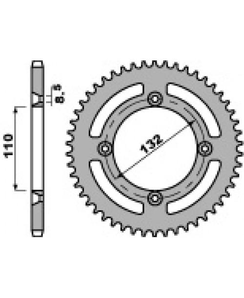 Звезда Приводная задняя  KTM 85SX Z49 C45 C.428