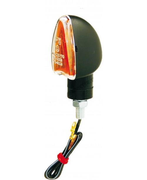 Указатели поворота галоген 21W черные, прозр. стекло, коротк ножка