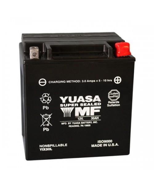 Аккумулятор YIX30L-BS YUASA YIX30L-BS 30Ah, 385CCA, 1,4 LITR ACID, 9,9 KG ОБЩИЙ ВЕС, 166x126x175 -/+