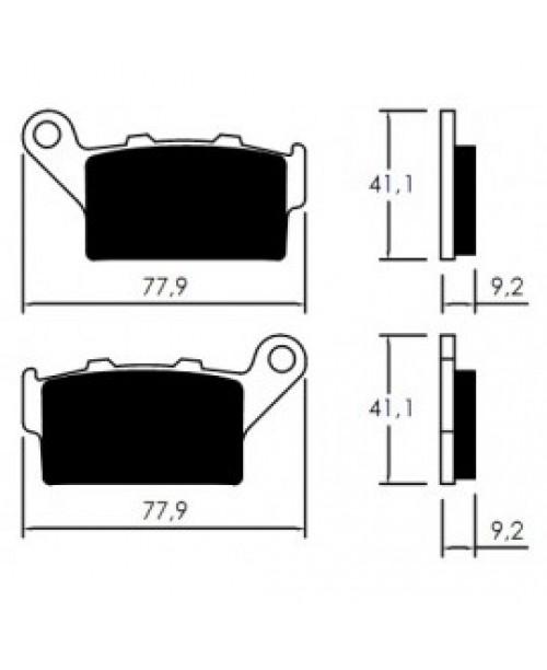 Тормозные колодки V-Brakes органика 675LS